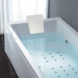 Cuscino poggiatesta bianco per vasca Treesse  Mod. Quadra , Spider , Asyx