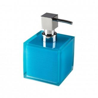 Dispenser da appoggio in resina poliacrilica trasparente blue Serie Billy di Cip�