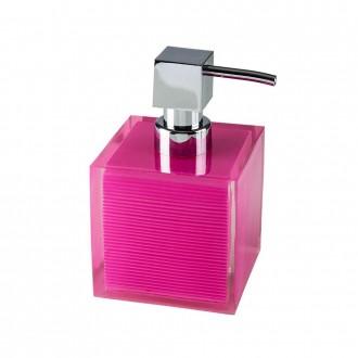 Dispenser da appoggio Serie Billy di Cip� in resina poliacrilica trasparente rosa
