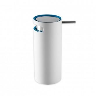 Dispenser sapone in resina bicolore Cip� serie Idol bianco e blu