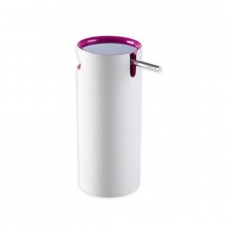 Dispenser da appoggio in resina bicolore serie Idol di Cip� bianco e rosa
