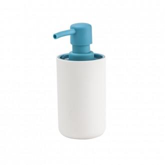 Dispenser da appoggio in resina soft touch bicolore bianco e blu Serie True Colors di Cipì