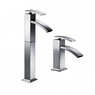 Set miscelatori lavabo alto + bidet Jacuzzi | rubinetteria Glint ottone cromato con PILETTA DI SCARICO INCLUSA