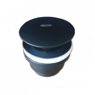 Piletta click clack nero opaco Jacuzzi | Rubinetteria universale con o senza troppopieno in ottone G1 1/4