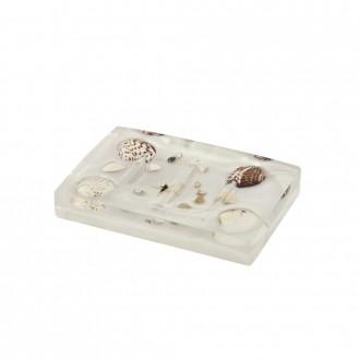Porta sapone Perla con inserti conchiglie serie antille di Cip�