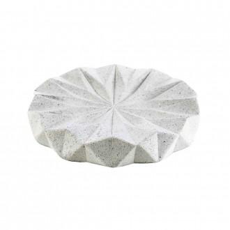 Portasapone in resina pigmentata da appoggio serie Geo White di Cip�