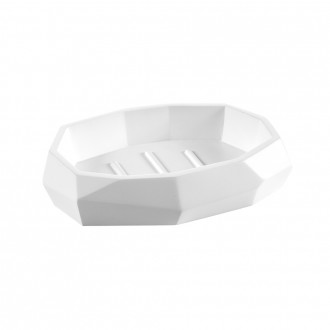 Porta sapone serie surface bamboo di Cip� finitura bianco matto