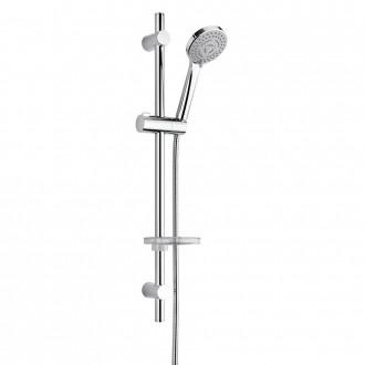 Saliscendi doccia di Jacuzzi Rubinetteria con doccino multigetto, flessibile in ABS cromato e portasapone