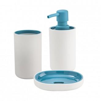 Set accessori da bagno 3 pezzi Cip� serie True Colors Dispenser Bicchiere e Portasapone