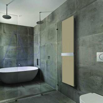 Termoarredo Ischia 1800X450 mm a piastra con barra portasalviette finitura Quarzo design Way by Lazzarini  383909
