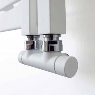 Valvola e detentore Lazzarini Bianco sabbiato attacco 50 mm per impianti rame o multistrato