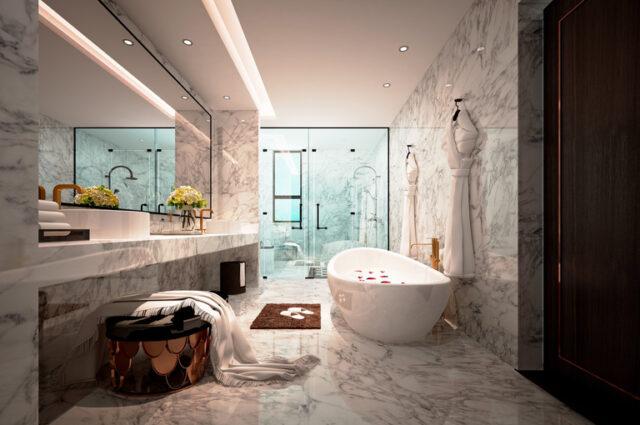 Arredare il bagno di un hotel di lusso, le tendenze
